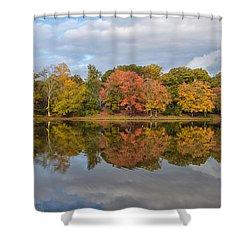 Fall Foliage Symmetry Shower Curtain