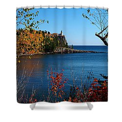 Fall For Split Rock Lighthouse Shower Curtain by James Peterson