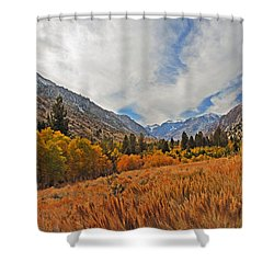 Fall In Lundy Canyon Shower Curtain by Lynn Bauer