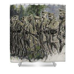 Fall In Norfolk Volunteers Shower Curtain by Frank Gillett