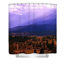 Shower Curtain featuring the photograph Fall In The Bitterroot Valley by Joseph J Stevens