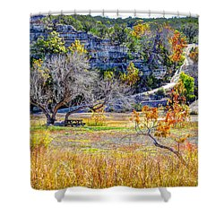 Fall In The Texas Hill Country Shower Curtain by Savannah Gibbs