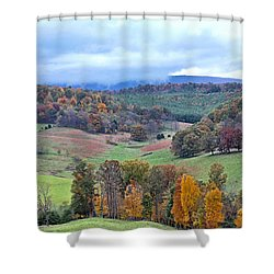 Fall In Virginia Shower Curtain by Denise Romano