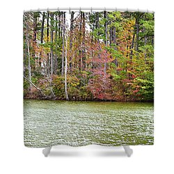 Fall Landscape 2 Shower Curtain by Lanjee Chee