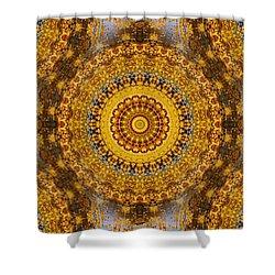 Shower Curtain featuring the digital art Fall Leaf Pattern by Aliceann Carlton