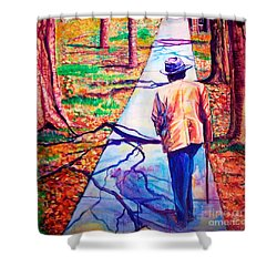 Fall On Highway 98' Shower Curtain by Ecinja Art Works