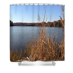 Fall On The Creek Shower Curtain