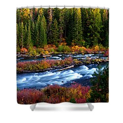 Shower Curtain featuring the photograph Fall On The Deschutes River by Kevin Desrosiers