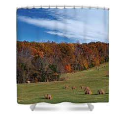 Fall On The Farm Shower Curtain