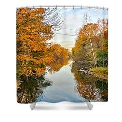Fall On The Red Cedar  Shower Curtain by Lars Lentz