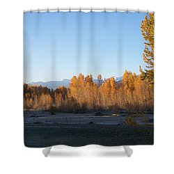 Fall On The River Shower Curtain by Jewel Hengen
