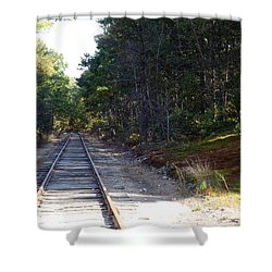 Fall Railroad Track To Somewhere Shower Curtain