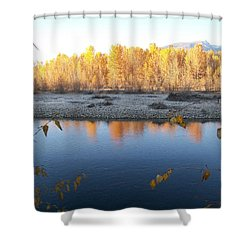 Fall Reflection 2 Shower Curtain by Jewel Hengen