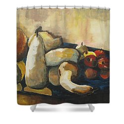 Fall Reflection Shower Curtain by Diane Pape