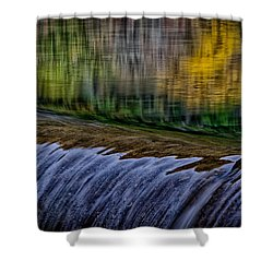 Fall Reflections At Tumwater Spillway Shower Curtain