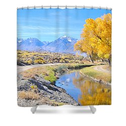 Fall Reflections Shower Curtain by Marilyn Diaz
