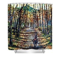 Fall Ride Shower Curtain by Shana Rowe Jackson