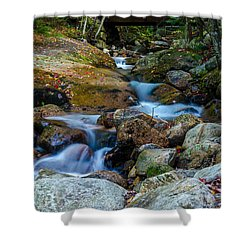 Fall Scene In Nh Shower Curtain by Mike Ste Marie