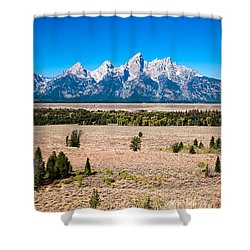 Fall Tetons   Shower Curtain