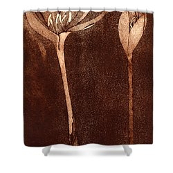 Fall Time - Autumn Crocus Meadow Safran Shower Curtain