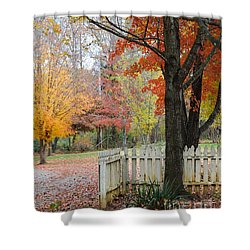 Fall Tranquility Shower Curtain by Debbie Green