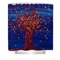 Fall Tree Fantasy By Jrr Shower Curtain by First Star Art