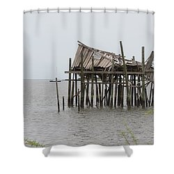Fallen Deckhouse Shower Curtain