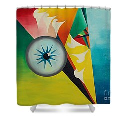 Shower Curtain featuring the painting Fallen From Grace by PainterArtist FIN