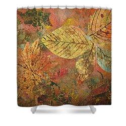Fallen Leaves II Shower Curtain by Ellen Levinson