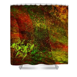 Shower Curtain featuring the mixed media Fallen Seasons by Ally  White