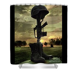 Fallen Soldiers Memorial Shower Curtain