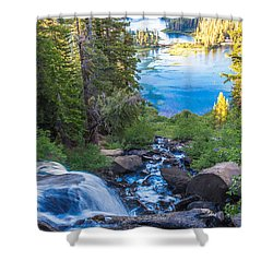 Falling Down To The Lakes Shower Curtain