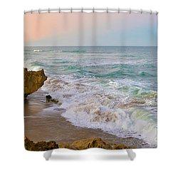 Falling In Love Shower Curtain by Olga Hamilton