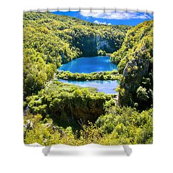 Falling Lakes Of Plitvice National Park Shower Curtain