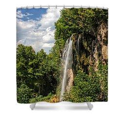 Falling Springs Falls Shower Curtain