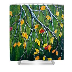 Falling Shower Curtain by Suzanne Theis