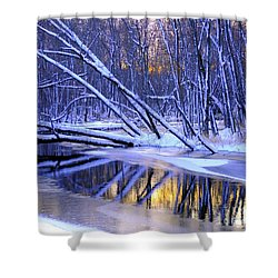 Shower Curtain featuring the photograph Falling by Terri Gostola