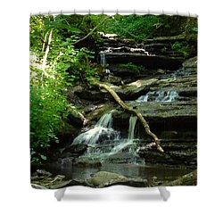 Shower Curtain featuring the photograph Falling Water by Alan Lakin