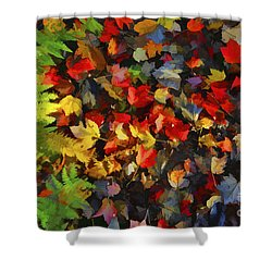 Falls Color Palette Shower Curtain by Dan Friend