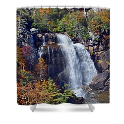 Falls In Fall Shower Curtain by Lydia Holly