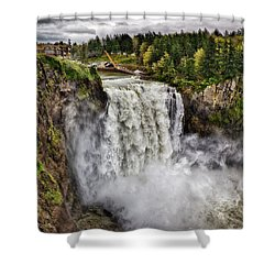 Falls In Love Shower Curtain