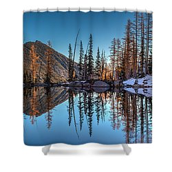 Falls Last Colors Shower Curtain by Mike Reid