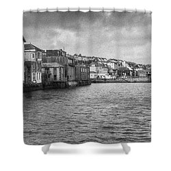 Falmouth Waterfront Shower Curtain by Brian Roscorla
