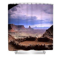 False Kiva Shower Curtain by Bob Christopher