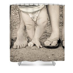 Family Feets Shower Curtain by Bill Pevlor