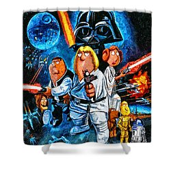 Family Guy Star Wars Shower Curtain