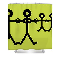 Family Icon Shower Curtain by Thisisnotme