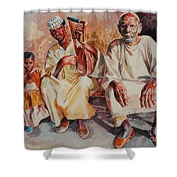Family Shower Curtain by Mohamed Fadul