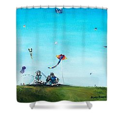 Family Outing Shower Curtain by Shana Rowe Jackson