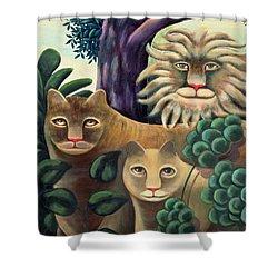 Family Portrait Shower Curtain by Jerzy Marek